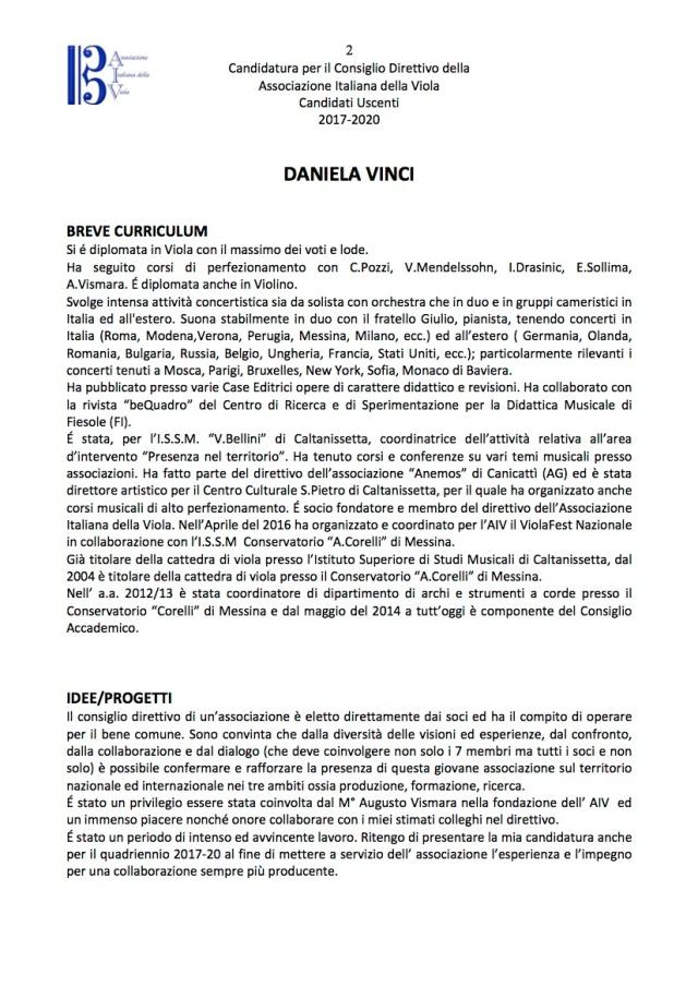 Candidati Consiglio Direttivo AIV Uscenti 2