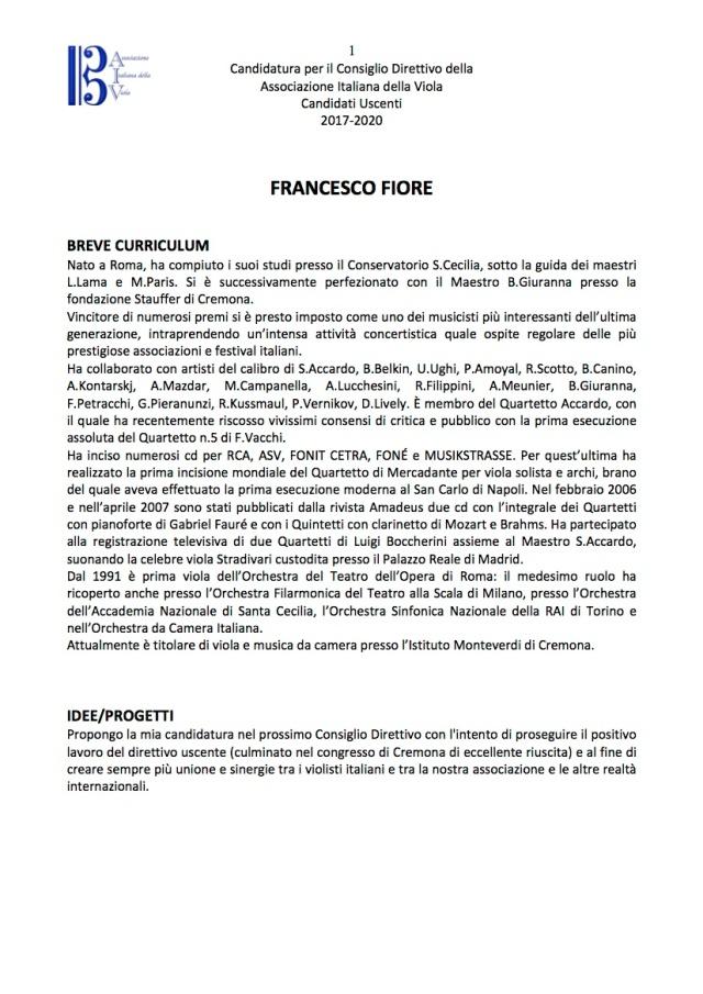 Candidati Consiglio Direttivo AIV Uscenti