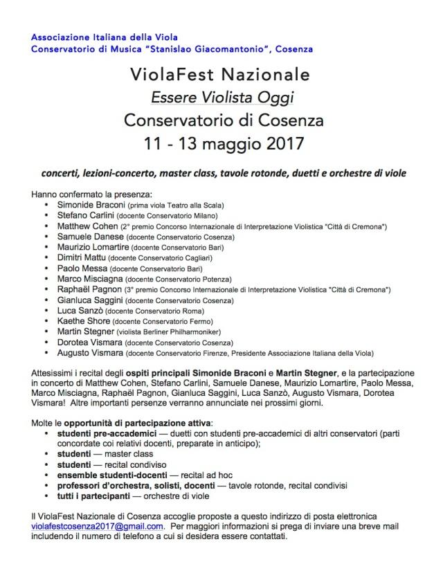 ViolaFest Nazionale 2017