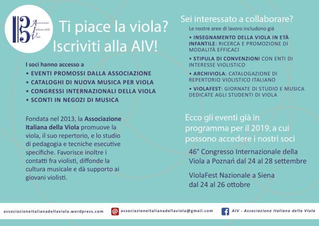 Iscriviti alla AIV!