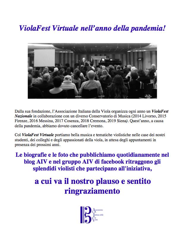 ViolaFest Virtuale!